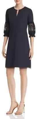 Elie Tahari Ari Lace-Sleeve Dress