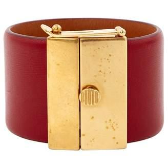 Celine Burgundy Leather Bracelets