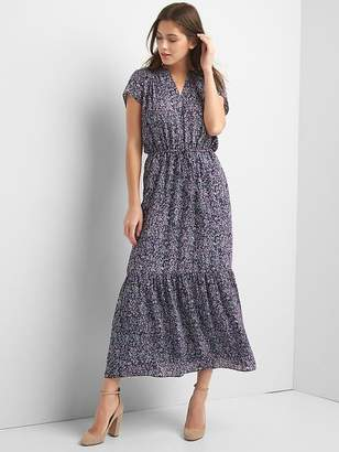 Gap Short sleeve maxi tier dress