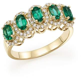 Bloomingdale's Emerald and Diamond Statement Ring in 14K Yellow Gold - 100% Exclusive