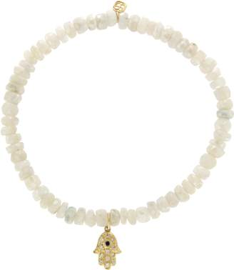 Sydney Evan 14K Yellow Gold Diamond Moonstone Bead Bracelet