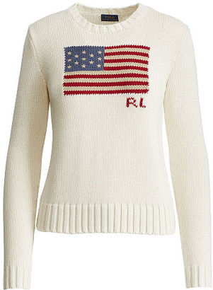 Polo Ralph Lauren Flag Cotton Sweater $145 thestylecure.com