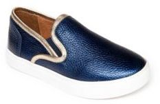 Venettini Kid's Piper Leather Slip-On Sneakers $89 thestylecure.com