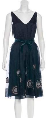 Rebecca Taylor Sleeveless Silk Midi Dress w/ Tags