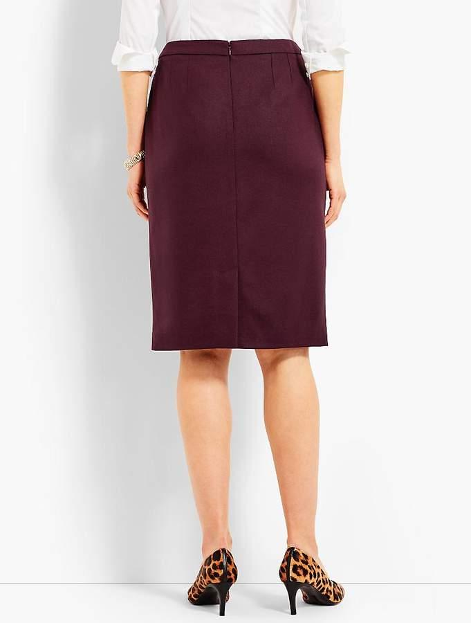 Italian Flannel Ruffle Pencil Skirt