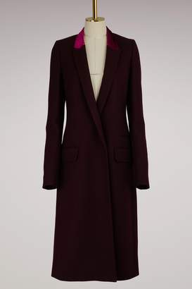 Haider Ackermann Wool Coat with Contrast Lapel