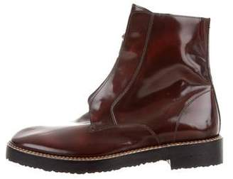 Maison Margiela Patent Leather Square-Toe Boots