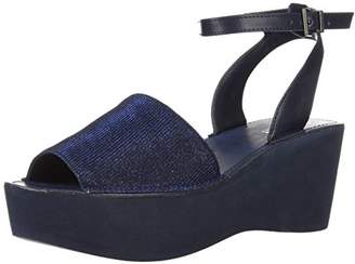 Kenneth Cole Reaction Women's Dine with Me Eva Platform Ankle Strap Wedge Sandal