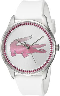 Lacoste Women's 'VICTORIA' Quartz Stainless Steel and Leather Casual Watch, Color:White (Model: 2000970)
