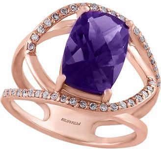 Effy Fine Jewelry 14K Rose Gold 4.21 Ct. Tw. Diamond & Amethyst Ring