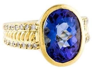 Doris Panos 18K Tanzanite & Diamond Cocktail Ring