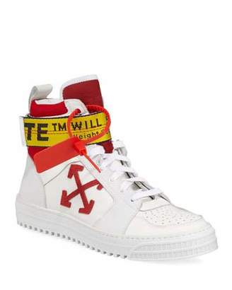 Off-White Men's Industrial Belt-Strap High-Top Sneakers