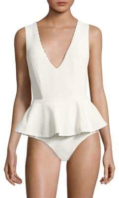 Marysia Swim V-Neck Peplum Maillot