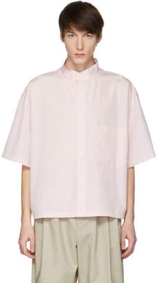 Hed Mayner Pink Short Sleeve Pocket Shirt