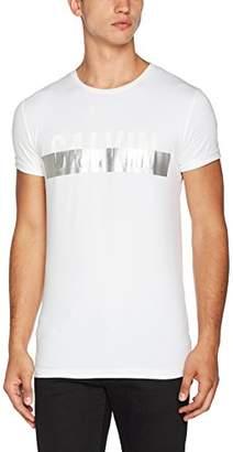 Calvin Klein Men's Toler Slimfit Cn Tee Kniited Tank Top, (Bright White), X