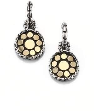 John Hardy Dot 18K Yellow Gold& Sterling Silver Drop Earrings