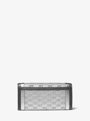 MICHAEL Michael Kors Whitney Large Metallic Logo Jacquard Chain Wallet