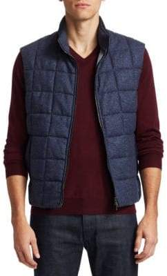 Saks Fifth Avenue COLLECTION Tweed Mixed Media Vest