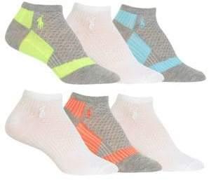 19f0c07550a Polo Ralph Lauren Women s 6-pack Colourblock Low-Cut Socks