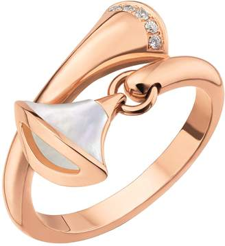 99126b76a Bvlgari Rose Gold Diamond and Mother-Of-Pearl Divas' Dream Ring