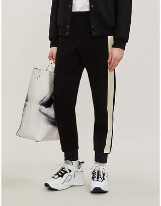 Alexander McQueen Side-stripe cotton-blend and satin jogging bottoms