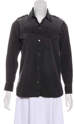 Current/Elliott Embellished Denim Shirt