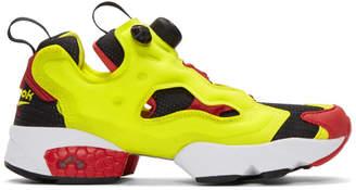 Reebok Classics Yellow Instapump Fury OG Sneakers