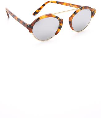 Illesteva Milan III Mirrored Sunglasses $300 thestylecure.com
