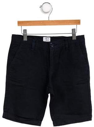 Armani Junior Boys' Mid-Rise Linen-Blend Shorts
