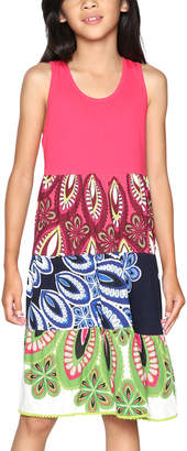 Desigual Fuchsia & Blue Dress