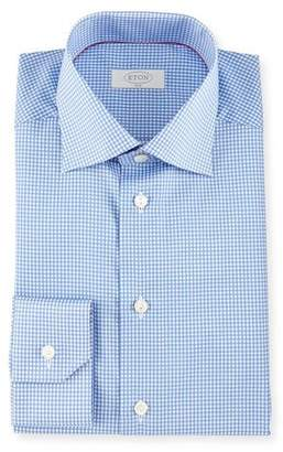 Eton Slim-Fit Gingham Check Dress Shirt