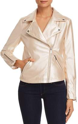Bagatelle Metallic Faux-Leather Moto Jacket