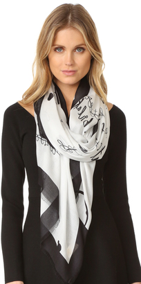 Kate Spade New York New Resolutions Scarf $118 thestylecure.com