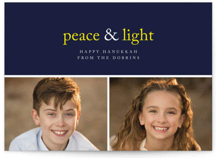 Peace & Light Hanukkah Cards