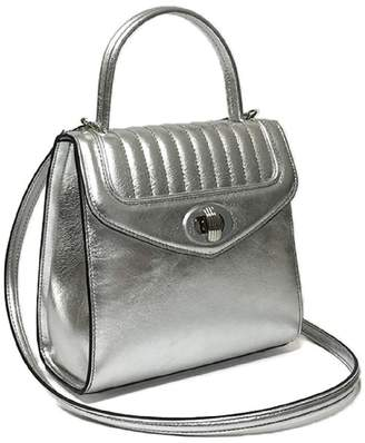 Freda Delage - Leather Hand Bag Mini Silver