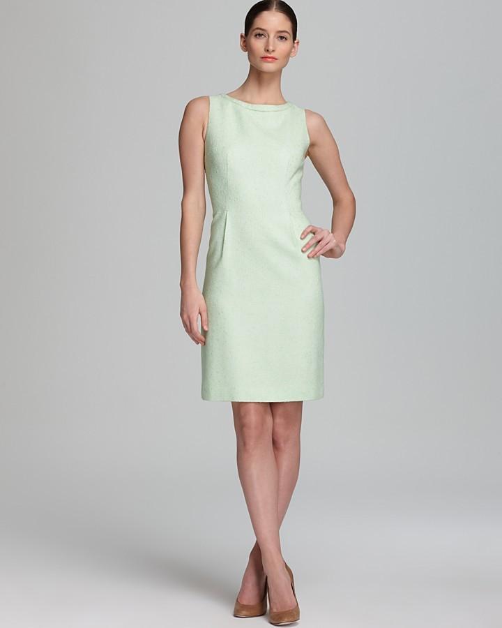 Elie Tahari Dress - Holly Neon Trim Tweed