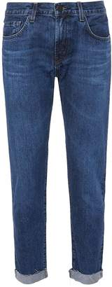 J Brand 'Eli' raw cuff recycled selvedge jeans