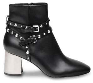 Ash Harlem Studded Leather Ankle Boots