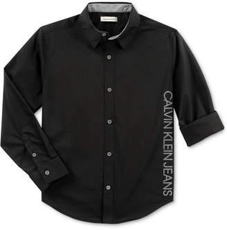 Calvin Klein Big Boys New Icon Cotton Shirt