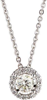 Neiman Marcus Diamonds 14k White Gold Round Diamond Solitaire Pendant Necklace, 0.61tcw