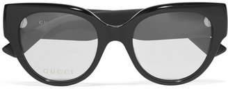 Gucci Cat-eye Glittered Acetate Optical Glasses