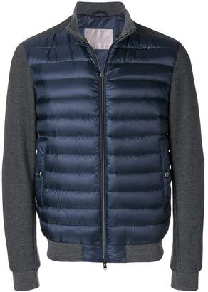 Herno contrast zipped padded jacket
