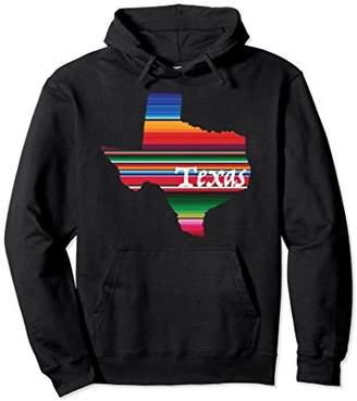 Serape Mexican Style State of Texas Hoodie Sweatshirt