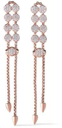 Kenneth Jay Lane Cz By Rose Gold-Tone Crystal Earrings