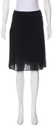 Burberry Silk Plissé Skirt