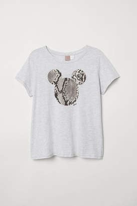 H&M H&M+ Printed T-shirt - Gray