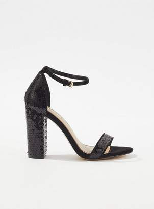 fb9921a6605 at Miss Selfridge · Miss Selfridge Honor sequin embellished block heel  sandals