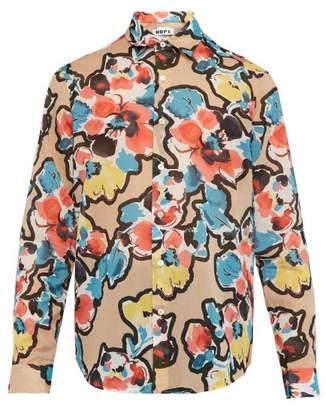 Hope Air Clean Floral Print Cotton Shirt - Mens - Multi