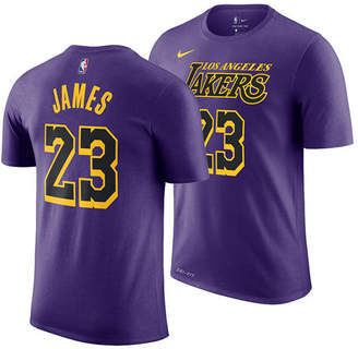 Nike Men LeBron James Los Angeles Lakers City Player T-Shirt 2018