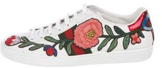 Gucci 2017 New Ace Floral-Embroidered Sneakers
